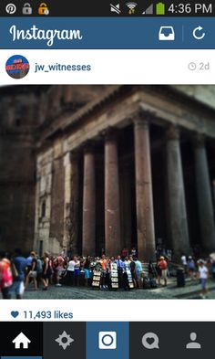 Public Witnessing in front of the Pantheon in Rome, Italy. What a beautiful shot!