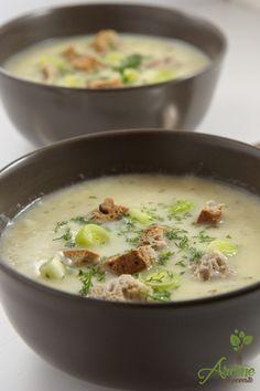 Supa crema de praz cu cartofi Soup Recipes, Vegetarian Recipes, Cooking Recipes, Healthy Recipes, Romanian Food, Soul Food, Vegetable Recipes, Food To Make, Easy Meals