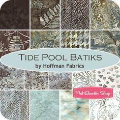 Tide Pool Batiks Fat Quarter Bundle Hoffman Fabrics