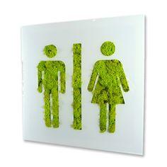 City picto toilette 9533 with plants