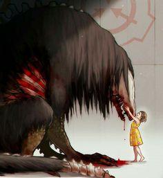 They have feelings too! Is that seed eater? Arte Horror, Horror Art, Dark Fantasy Art, Dark Art, Creepy Art, Scary, Scp Cb, Art Anime, Monster Art
