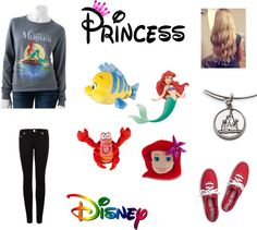 """""""Ariel Disney The Little Mermaid"""" by basketballzstar ❤ liked on Polyvore"""