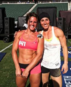 crossfitters: Stacie Tovar and Emily Friedman. Crossfit Games.
