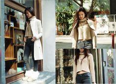 Chole Pazzo Light Brown Crop Knitted Sweater, Chole Pazzo 2 Ways Wear Ivory Coat