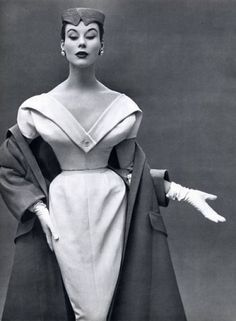 Dinner dress and coat by Christian Dior, 1953.