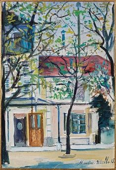 View Coin de Paris By Maurice Utrillo; 27 x 19 cm. Access more artwork lots and estimated & realized auction prices on MutualArt. Pierre Auguste Renoir, Pierre Bonnard, Paris Painting, City Painting, Georges Seurat, Monuments, Monet, Maurice Utrillo, Visual And Performing Arts