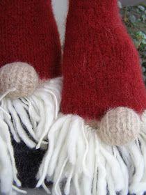 Halager: Strikkede nisser i fritidsgarn Winter Hats, Threading