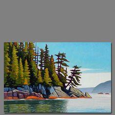 Paintings I Love, Seascape Paintings, Landscape Paintings, Watercolor Landscape, Abstract Landscape, Watercolor Paintings, Guache, Canadian Art, Contemporary Landscape