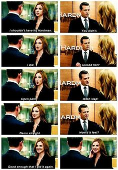 •Pinterest : @vandanabadlani Suits - Harvey & Donna, LOVE LOVE LOVE these two!!!