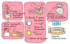 Cartoon Cooking: Base de cheescake. Cuanto más simple, mejor.