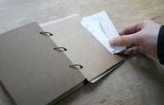 Kraft Ring Binder Plain Notebook
