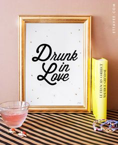 beyonce drunk in love. typographic art print. home decor. song lyrics print. bar cart art. by EttaVeeStudio on Etsy https://www.etsy.com/listing/196142290/beyonce-drunk-in-love-typographic-art