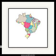 Brasil, cores, colorido, fofo
