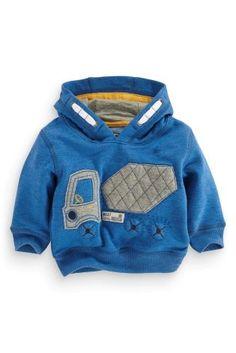Acheter Sweat à capuche à enfiler avec appliqué motif bétonneuse (3 mois - 6 ans) disponible en ligne dès aujourd'hui sur Next : France