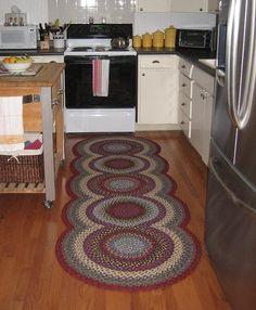 What a pretty braided rug!