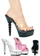 Ellie Shoes E671Vanity 6 Spherical Heel Mule 6 Clear *** Be sure to check out this awesome product.