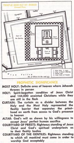 plan and info on the Second Temple of Jerusalem, rebuilt by Herod the Great.