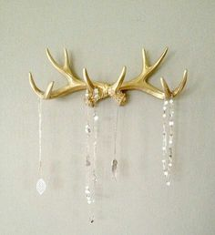 painted antler wall hanger