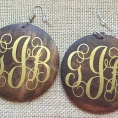 Wood Disc Earrings $9.95