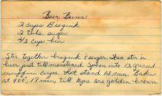 Beer Buns | Vintage Recipe