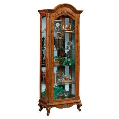 Philip Reinisch Company Renaissance Charlemagne Curio Cabinet, Brown