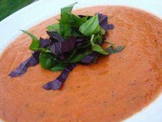 Mouthwatering Creamy Vegan Tomato Basil Soup In The Crock Pot!  #crockpot #vegan #recipe #tomato