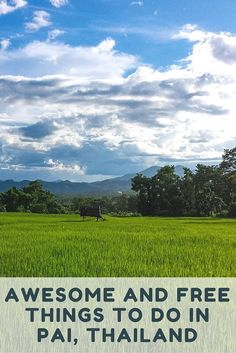 Awesome and Free Things To Do in Pai, Thailand: Pai is located 150 kilometers, and seemingly a world away, from the hustle and bustle of Chiang Mai. It is secluded, peaceful, laid back, and is a MUST visit destination for anyone in northern Thailand. Here are our top picks for free or inexpensive things to do in Pai.: