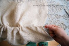 {Ella Claire}: Washing and Cutting Burlap