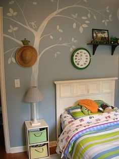 Hand painted tree with critters
