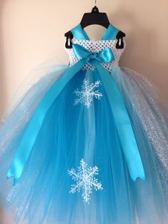 Snow Queen Elsa inspired tutu dress and by LittledreamsbyMayra, $65.00 - Omg! I want this for HollyBears!