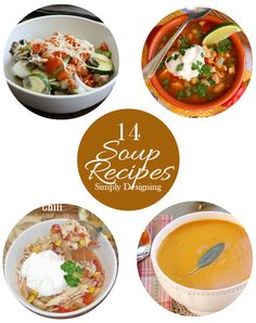 Soup is one of my favorite meals and here are 14 Delicious looking Fall Soup Recipes that are perfect to put in the recipe rotation. Fall Soup Recipes, Pasta Recipes, New Recipes, Dinner Recipes, Favorite Recipes, Healthy Recipes, Recipe Pasta, Diy Recipe, Amazing Recipes