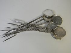 Vintage Egyptian Silver Pickle forks h'ors  by FeliceSereno, $65.00