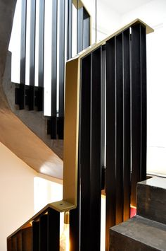 Balustrade in Hertfordshire. Metal Handrails, Hall Design, Railing Design, Stairway To Heaven, Bond Street, Railings, Transitional Style, Staircases, Stairs