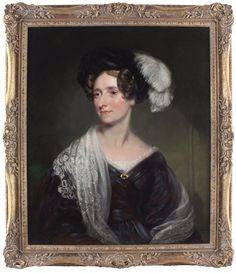 James Ramsay Large Antique Oil Portrait Painting Aristrocratic Lady Signed Oil Portrait, Worlds Largest, Antiques, Lady, Modern, Painting, Antiquities, Antique, Trendy Tree