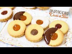 I biscotti occhi di bue sono dei golosi pasticcini realizzati con una semplice pasta frolla e con un... Linzer Cookies, Biscotti Cookies, Biscotti Recipe, Biscuits, Italian Cookies, Sandwich Cookies, Sweet Recipes, Cookie Recipes, Cheesecake