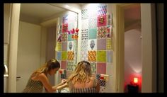 adesivos em azulejos - no blog tem o passo a passo - imagens personalizadas!