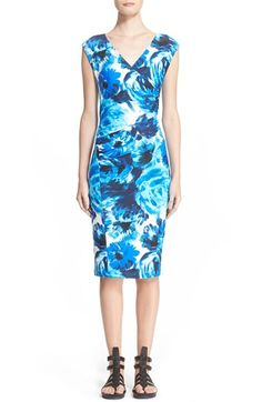 Fuzzi Floral Print Jersey Sheath Dress available at #Nordstrom