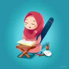 Cute Cartoon Girl, Couple Cartoon, Cartoon Art, Muslim Pictures, Character Art, Character Design, Hijab Drawing, Islamic Cartoon, Islamic Art Pattern
