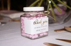 Personalised lolly jars created by Innovative Events