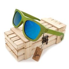7deadcd0fe Summer Time Bamboo Unisex Green Wood Sunglasses - With Polarized UV 400  Protection Eyewear!