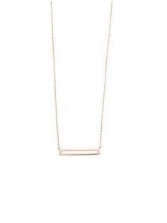 18K gold plated sterling silver necklace with a length of 16 inches. $63