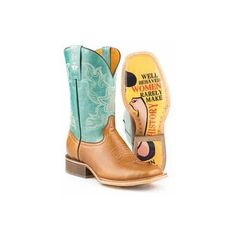 Tin Haul Sassy Boots Urban Western Wear ($260) ❤ liked on Polyvore featuring shoes, boots, wide square toe boots, cowboy shoes, wide square toe cowboy boots, turquoise cowgirl boots and wide square toe cowgirl boots
