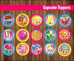 Delightful 80% OFF SALE Shopkins Cupcakes Toppers Instant By Youparty