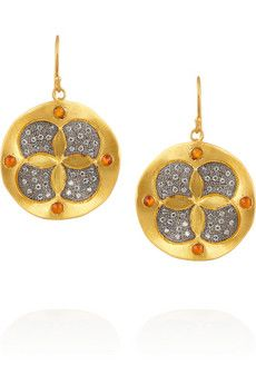 Kevia Gold-plated, cubic zirconia and carnelian earrings | THE OUTNET
