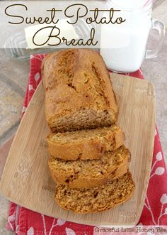 See how to make this delicious sweet potato quick bread on gracefullittlehoneybee.com