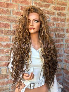"Dark Blonde Honey Balayage Swiss lace front wig 26"""