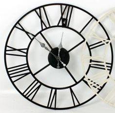 Stunning Metal Roman Numeral Clock - Black 'Iron': Amazon.co.uk: Kitchen & Home