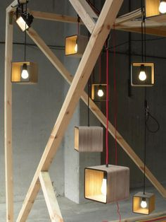 Fiera del Mobile – Fuori Salone, Milan | Hanging Pendant Light Boxes