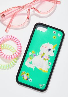 Wildflower Baby Unicorn iPhone Case at Dolls Kill, an online punk, goth, rave, kawaii, and streetwear clothing store. FAST & FREE WORLDWIDE SHIPPING. Shop trends and your favorite brands like Lime Crime, Wildfox Couture, Killstar, BOY London, and Y.R.U.