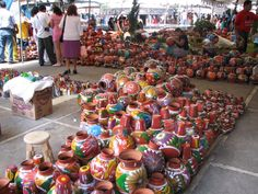 Uruapan Market - pottery from all over Michoacán state